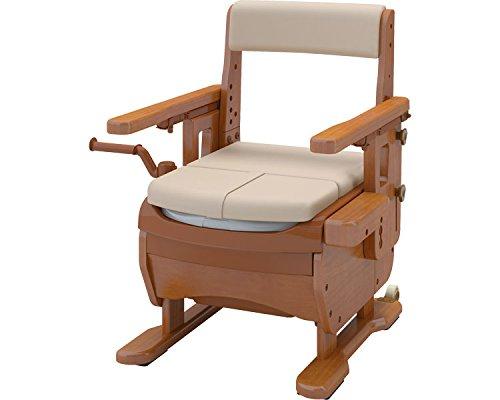 安寿 家具調トイレセレクトR はねあげ ソフト便座 533-866 (アロン化成) (木製トイレ)