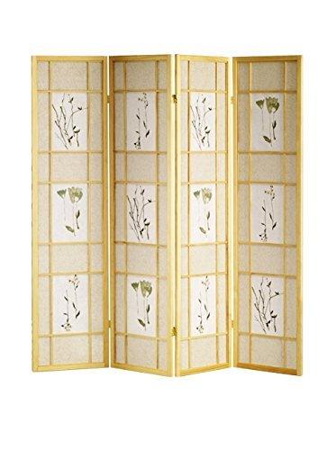 ORE Furniture International 4-Panel Shoji Screen, Natural by ORE Furniture