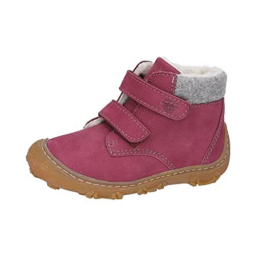 RICOSTA Mädchen Boots NICO von Pepino, Weite: Weit (WMS),terracare,Barfuß-Schuh,Klettverschluss,Kids,Kinderschuhe,Fuchsia (364),24 EU / 7 Child UK
