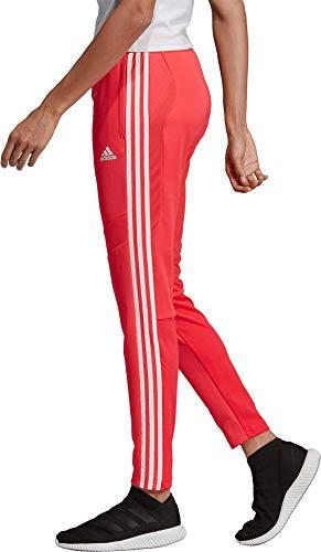 adidas Women's Tiro 19 Training Pants, Shock Red/White, Small
