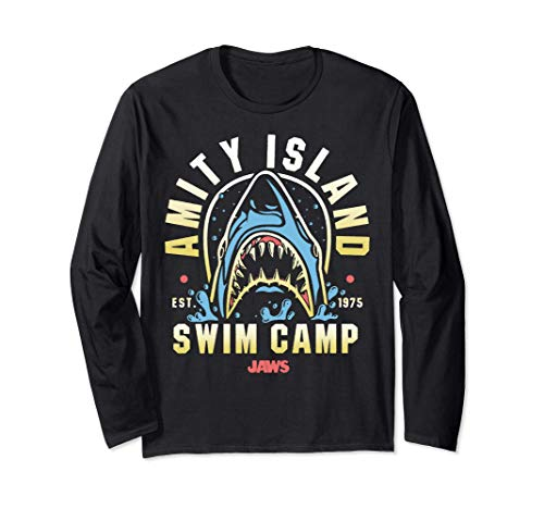 * NEW * Amity Island Swim Camp Long Sleeve T-shirt, Unisex, 3 Colours, S to 2XL