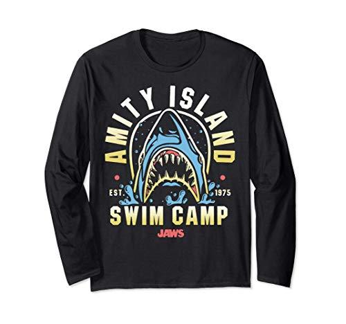 Amity Island Swim Camp Long Sleeve T-shirt, Unisex, 3 Colours, S to 2XL