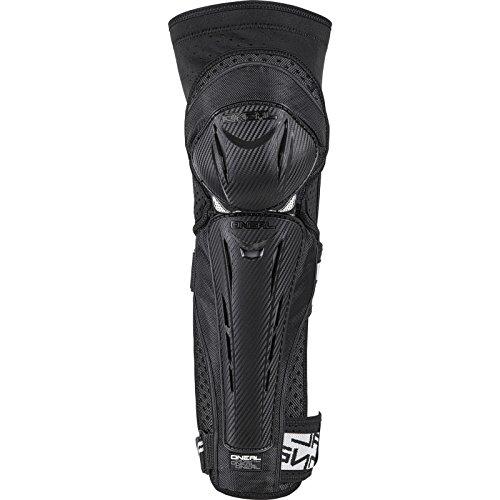 O'NEAL   Protezioni del Ginocchio   BMX Mountainbike Downhill   Carbon Look Guscio in plastica, Forma ergonomica, Cinghie Velcro   Park FR Carbon Look Knee Guard   Adulto   Nero Bianco   Taglia L