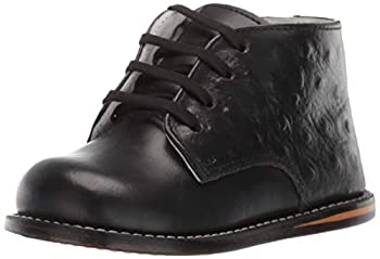 Josmo Baby Girls Unisex Walking Shoes First Walker Black Ostrich 5 Infant