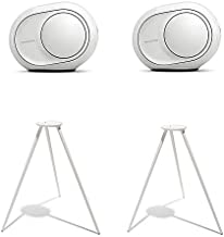 Devialet Phantom Reactor 600 Watts - 95 dB Dual System Bundle with (2) Devialet Legs in White (4 Items)