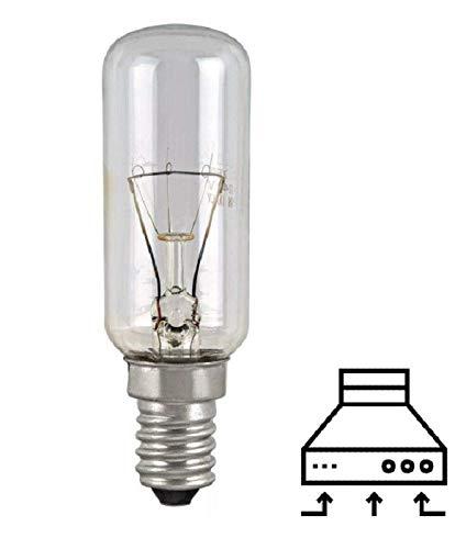 MED - Lámpara tubular incandescente transparente para campanas extractoras Canalizadas E14 40 W 220 V