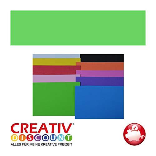 Creative Discount Moosgummiplatte, 29 x 20mm, 1 STK., Hellgrün