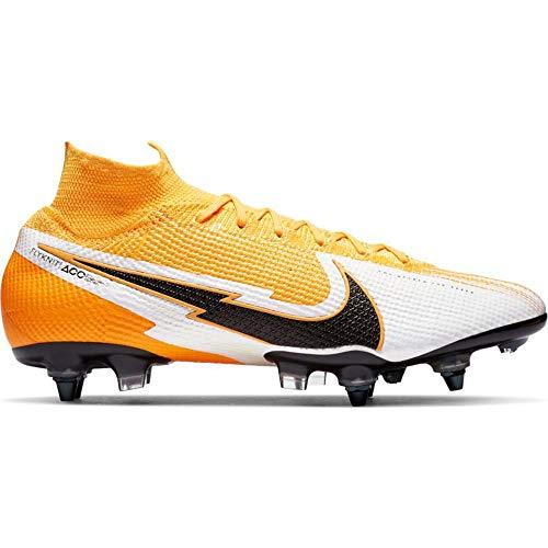 Nike, Botas de fútbol Unisex Adulto, Naranja, Negro y Blanco, 42 EU
