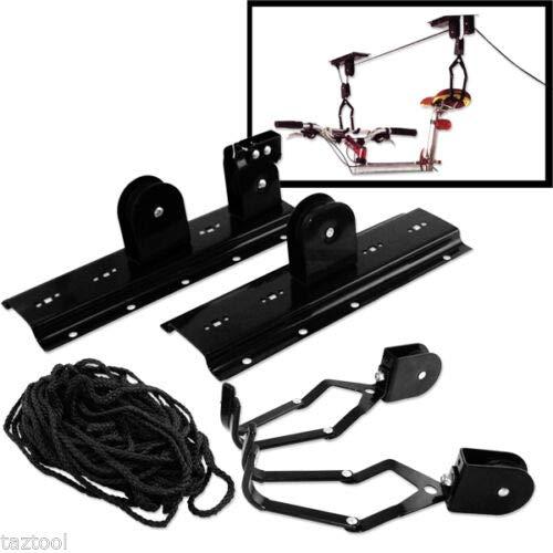 (Best tools) Bike Roof Rack Bicycle Lift ceiling mount Bike Capacity 1 ATE