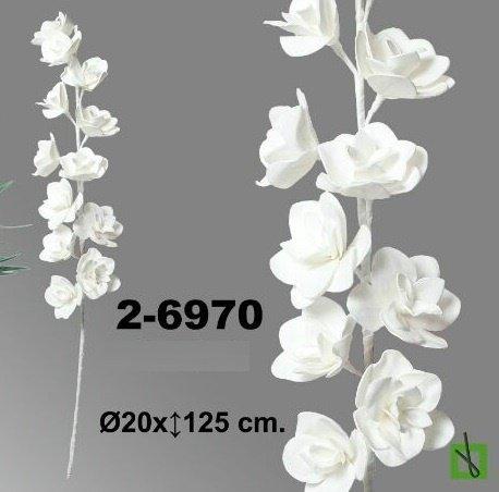 DONREGALOWEB Vara de Flor con 12 Cabezas de Foam en Color Blanco
