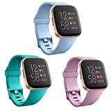SZBAMI Bands Compatible with Fitbit Versa/Versa 2/Fitbit Versa Lite,Breathable Sports Waterproof Replacement Wristband for Fitbit Versa Smart Watch