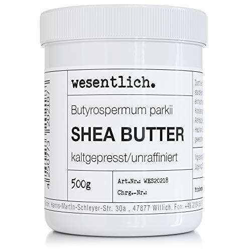 Sheabutter kaltgepresst und unraffiniert 500g - 100% reine Pflege oder perfekte Basis für hochwertige Pflegeprodukte von wesentlich.