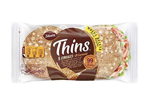 Silueta Pan Fino Thins 8 Cereales, 8 Unidades, 310g