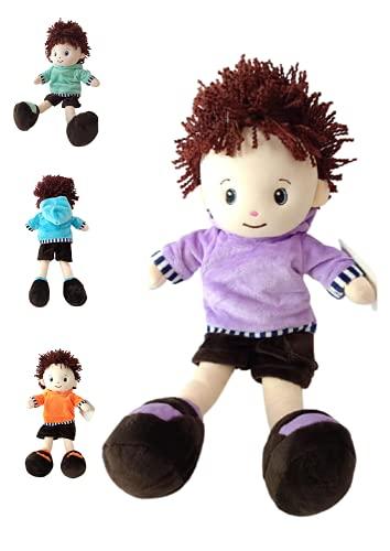 Muñeco (Boy) de Trapo acompañante de Dormir (Colores ALIATORIOS) Mide 35 cm Colores aleatorios Bonito Juguete de Peluche para niña y niño Bebe Muñeco de Textura Muy Suave al Tacto