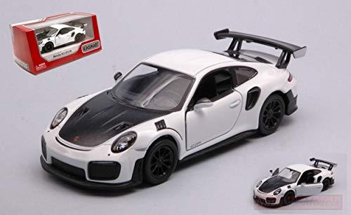 Kinsmart Model KOMPATIBEL MIT Porsche 911 RS GT2 RS (991) White/Black cm 12 Box DIECAST KT5408WW