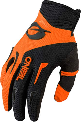 O'NEAL | Fahrrad-& Motocross-Handschuhe | MX MTB DH FR Downhill Freeride | Langlebige, Flexible Materialien, belüftete Handinnenfäche | Element Glove | Herren | Schwarz Neon-Orange | Größe M