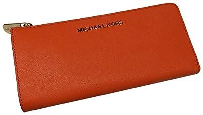 Michael Kors Jet Set Travel Large Three Quarter Zip Around Wallet