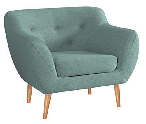 MARTHOME Gepolsterter Sessel, Stuhl aus Samtstoff, bequeme Sessel für Wohnzimmer und Schlafzimmer (Minze)