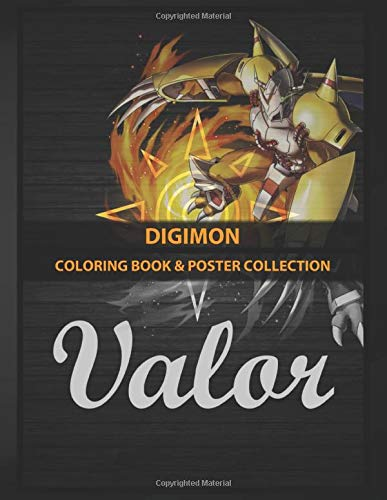 Coloring Book & Poster Collection: Digimon Emblema Valor Wargreymon Anime & Manga