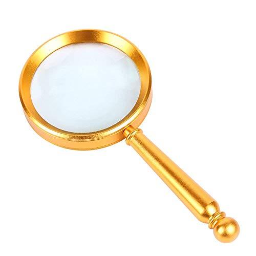 CKQ-KQ Het lezen van metaal leesbril glas 15 keer high-definition optische lezing krant vergrootglas golden