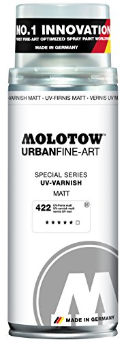 Molotow : Urban Fine Art : Artist Acrylic Spray Paint : 400ml : UV Varnish Matt 422 : Ship By Road Only