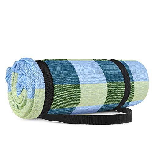 Simpeak Manta Picnic Impermeable 150 * 200cm Anti-Arena Outdoor, Picnic, Acampa y Otra Actividad al Aire Libre - Azul y Verde