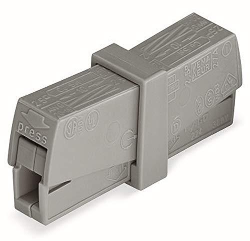 WAGO® Leuchtenklemme, grau, 224-201 (50 Stück)