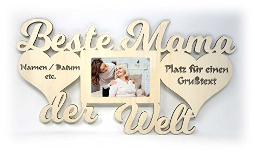 Geburtstagsgeschenk für Mama I praktische Geschenkidee mit Wunschtext Namen zum Geburtstag Weihnachten Ostern Bilderrahmen 10 x 15 cm