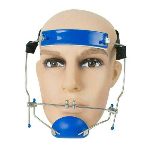 Sino Dental Orthodontic Adjustable Headgear Face Mask Facebow High-Pull Headgear (Blue)