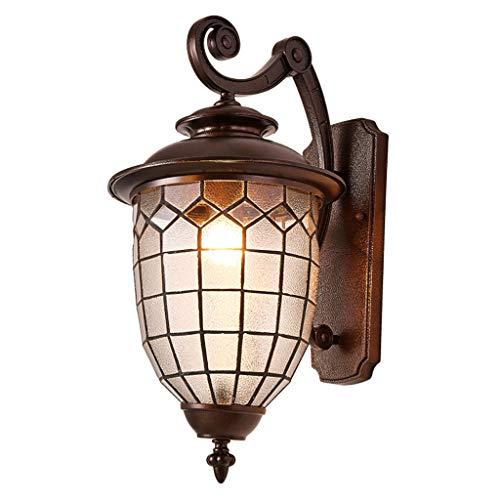 XW LRW wandlamp voor buiten, Europese, landelijke familie, waterdicht, wandlamp van glas, terras, hal, balkon, loper, landhuis, villa, tuin, wandlamp