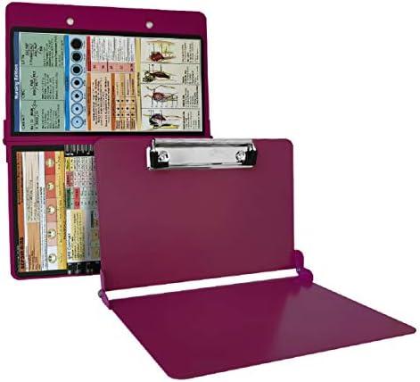 Awolf Nursing Clipboard Foldable Wine Aluminum Nurse Clipboard with Generous Storage Lightweight product image