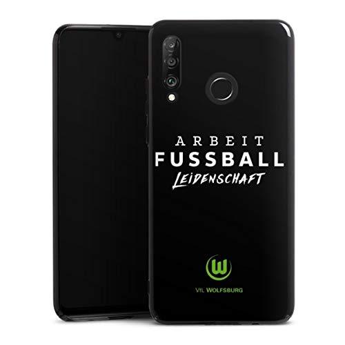 DeinDesign Hard Case kompatibel mit Huawei P30 Lite Schutzhülle schwarz Smartphone Backcover VFL Wolfsburg Offizielles Lizenzprodukt Statement