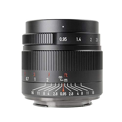 7artisans 35mm f0.95 APS-C Spiegellose Kamera-Objektiv große Blende, kompakt für Sony A7 A7II A7III (A7M3) A7R A7RIII A7S A7SIII A6000 A6300 A6400 A6500 NEX-3 NEX-3R NEX-5T(Black)