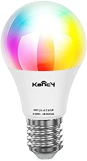 Smart WiFi LED Light Bulb, KANCY Color Changing Light Bulb RGBW/W 10W Worktime Lifetime 25K Equivalent Dimmable LED Smart ...