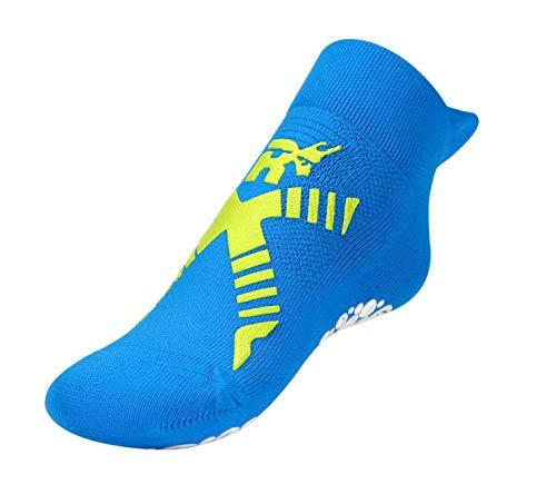 R-evenge Kids Pool Schwimm-Socke mit Anti Rutsch Sohle für mehr Sicherheit am Beckenrand Aqua-Socke Bade-Schuhe Kinder Mädchen-Schwimm-Socke Jungen-Schwimm Socke Anti-Rutsch (Azzuro/Verde, S)