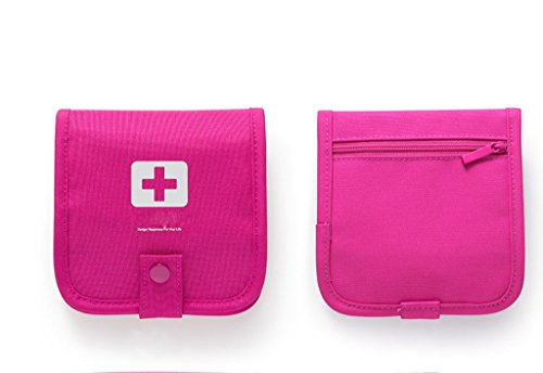 Qearly Kit de primeros auxilios para primeros auxilios, color rojo