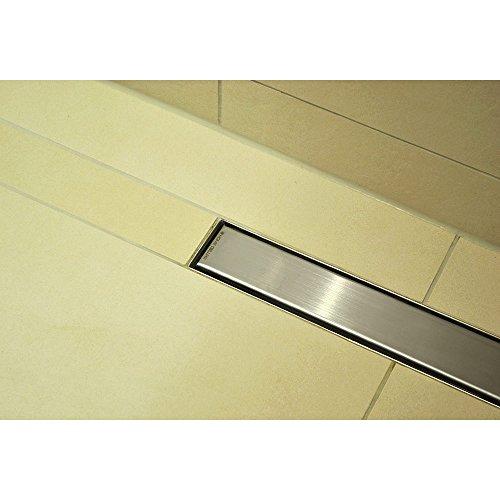 Home Deluxe - Duschrinne Randablauf + Siphon - Verschiedene Größen - 700 mm