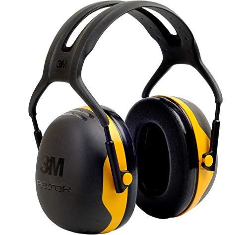 3M Peltor Kapselgehörschützer X2AC1 für Lärmpegel von 94 bis 105 dB, stufenlos verstellbare Kopfbügel,schwarz/gelb