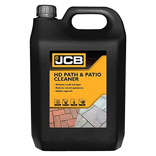 JCB - 2.5L Heavy Duty Patio Cleaner - Path Cleaner Concentrate - Mould Remover, Lichen Remover, Algae Remover - Pressure Washer Detergent - Lichen Control