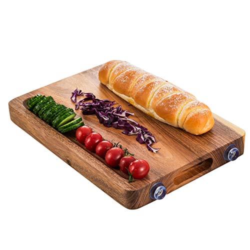 Vobajf Tabla de cortar creativa de madera de acacia cuadrada para restaurante y cocina, juego de tablas de cortar (color: multicolor, tamaño: 36 x 25 cm)