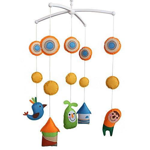 Berceau de lit de bébé rotatif coloré jouets de bébé [Chant des oiseaux]