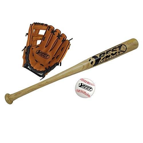 Best Sporting Baseball Set für Kinder und Jugendliche, Schläger, Handschuh und Baseball