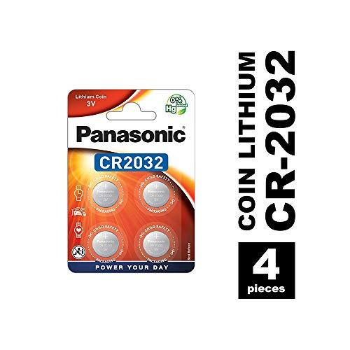 Panasonic CR2032batteria al litio a bottone 3V, confezione da 4