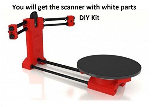BQ Ciclop DIY 3d–Escáner para 3d printer-white Color partes, Kit completo