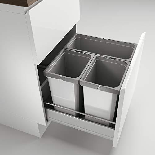Naber Cox® Box 2T 500-3. Abfallsammler, hellgrau.