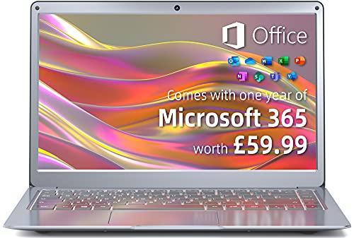 Jumper Laptop Microsoft 365, 13.3 inch FHD Screen(4GB DDR3 64GB eMMC...