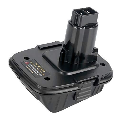 Adaptador de batería de repuesto DCA1820 de 20V para herramientas Dewalt de 18 V/20V, convertidor de batería de litio de 20 V DCB205 reemplazar 18V NiCad y NiMh herramientas de batería DC9096 DW9096