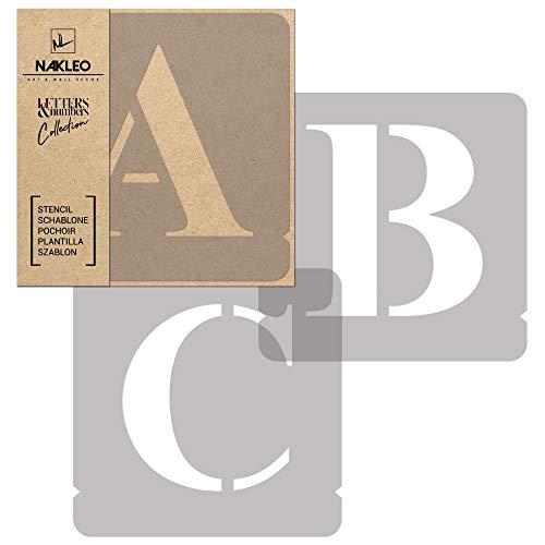 Buchstaben & Zahlen Wiederverwendbare Kunststoff Schablone // 70 mm // Times Roman Großbuchstaben // 42 Blätter Vollständiges Alphabet Schriftschablonen