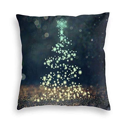 Lewiuzr Firefly Christmas Tree Snowflake Christmas Square Throw Pillow Covers Decoraciones Funda de cojín 18X18 Pulgada