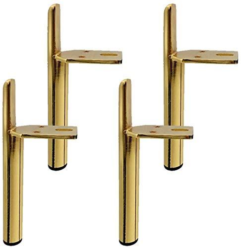 Yubingqin 4 piezas de patas de metal para muebles dorados, patas de hierro, patas de apoyo para sofá, cama, muebles pesados para camas, armarios, mesas y otros pies de muebles (color: 15 cm)